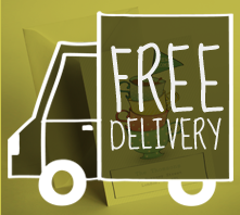 Free delivery on moving cards