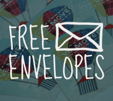 Get Free envelopes with moving home cards