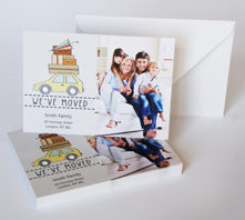 Photo moving cards